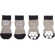 Petego Traction Control Indoor Dog Socks, Black/Gray, Small