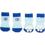 Petego Traction Control Indoor Dog Socks, Blue/Light Blue, Small