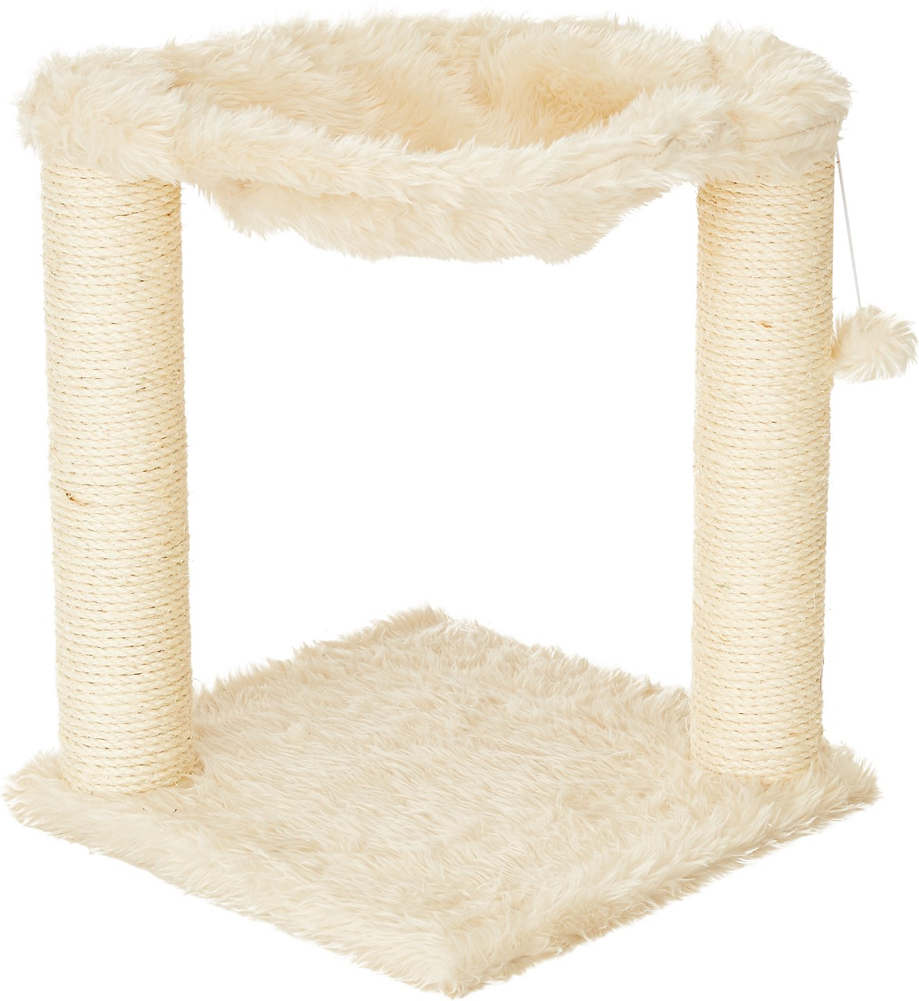 trixie baza 195inch cat hammock u0026 scratching post cream