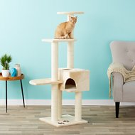 Trixie Alicante 55.75-Inch Cat Tree & Scratching Post, Beige