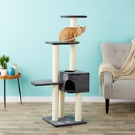 Trixie Alicante 55.75-Inch Cat Tree & Scratching Post, Gray