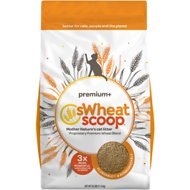 sWheat Scoop Premium+ Natural Clumping Wheat Cat Litter, 25-lb bag