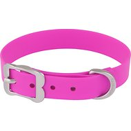 Red Dingo Vivid PVC Dog Collar, 30-cm, Hot Pink