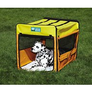 Guardian Gear Collapsible Dog Crate, Large, Orange/ Yellow