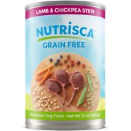 Nutrisca Grain-Free Lamb & Chickpea Stew Recipe Canned Dog Food, 13-oz, case of 12