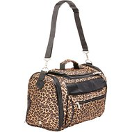 Sherpa Cat Tote Pet Carrier, Leopard Print