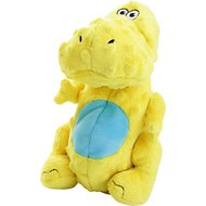 GoDog Dinos Chew Guard T-Rex Dog Toy, Yellow, Large
