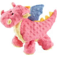 GoDog Dragons Chew Guard Dog Toy, Coral, Large