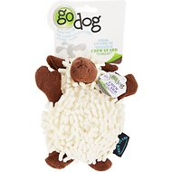 GoDog Fuzzy Wuzzy Lamb Chew Guard Dog Toy