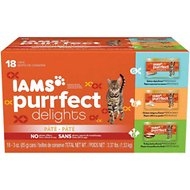 Iams Purrfect Delights Pate in Gravy Variety Pack Canned Cat Food, 3-oz, case of 18