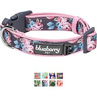 Blueberry Pet Floral Prints Dog Collar, Small, Rose