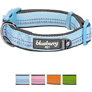 Blueberry Pet 3M Reflective Spring Pastel Dog Collar, Misty Blue, Small