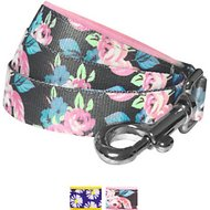 Blueberry Pet Floral Prints Dog Leash, Rose, 5-ft, 3/4-in