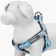 Blueberry Pet 3M Reflective Spring Pastel Dog Harness, Medium/Large, Misty Blue