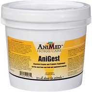 AniMed AniGest Digestive Enzyme & Probiotic Horse Supplement, 5-lb tub