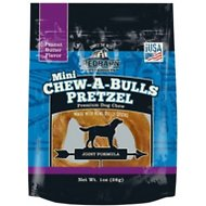 Redbarn Chew-A-Bulls Mini Pretzel Peanut Butter Flavor Dog Treat, 1 count