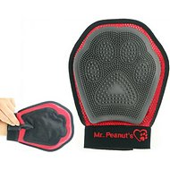 Mr. Peanut's Grooming Glove Pet Brush, Red