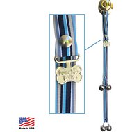PoochieBells The Original Dog Training Potty Doorbell, Starry Night Stripes