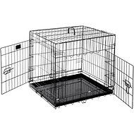 Pet Trex Folding Double Door Deluxe Dog Crate, 24-in
