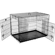Pet Trex Folding Double Door Deluxe Dog Crate, 42-in