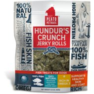 Plato Hundur's Crunch Fish Jerky Rolls Dog Treats, 3.5-oz