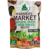 Plato Farmers Market Duck & Vegetables Grain-Free Dog Treats, 4-oz bag