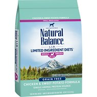 Natural Balance L.I.D. Limited Ingredient Diets Chicken & Sweet Potato Formula Small Breed Bites Dry Dog Food, 12-lb bag