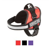 Doggie Stylz Service Dog Harness, Medium, Red