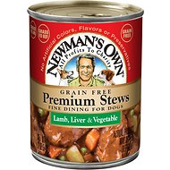 Newman's Own Organics Grain-Free Premium Lamb, Liver & Vegetable Stew Canned Dog Food, 12-oz, case of 12