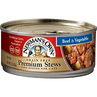 Newman's Own Organics Grain-Free Premium Beef & Vegetable Stew Canned Cat Food, 5.5-oz, case of 24