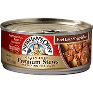 Newman's Own Organics Grain-Free Premium Beef Liver & Vegetable Stew Canned Cat Food, 5.5-oz, case of 24