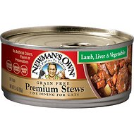 Newman's Own Grain-Free Premium Lamb, Liver & Vegetable Stew Canned Cat Food, 5.5-oz, case of 24