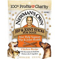 Newman's Own Chicken Hip & Joint Snack Sticks Dog Treats, 5-oz bag