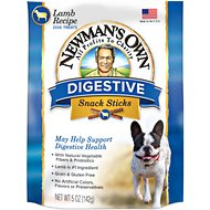 Newman's Own Organics Lamb Digestive Care Snack Sticks Dog Treats, 5-oz bag