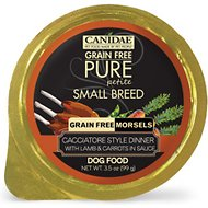 Canidae Grain-Free Pure Petite Cacciatore Style Dinner with Lamb & Carrots in Sauce Small Breed Dog Food Trays, 3.3-oz, case of 12