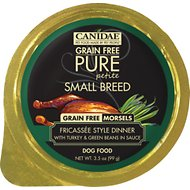 Canidae Grain-Free Pure Petite Fricassee Style Dinner with Turkey & Green Beans in Sauce Small Breed Dog Food Trays, 3.3-oz, case of 12
