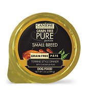 Canidae Grain-Free Pure Petite Terrine Style Dinner with Chicken & Peas Small Breed Dog Food Trays, 3.3-oz, case of 12