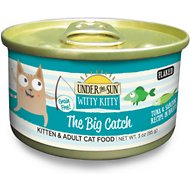 Under the Sun Witty Kitty Grain-Free The Big Catch Tuna & Sardine Recipe Canned Cat Food, 3-oz, case of 24
