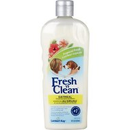 PetAg Fresh 'N Clean Oatmeal 'N Baking Soda Dog Shampoo, Tropical Fresh Scent, 18-oz bottle