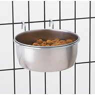 ProSelect Stainless Steel Hanging Kennel Pet Bowl, 16-oz