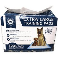"American Kennel Club Fresh Scented Large Puppy Training Pads, 28"" x 30"", 50 count"