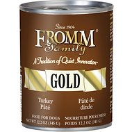 Fromm Gold Turkey Pate Grain-Free Canned Dog Food, 12-oz, case of 12