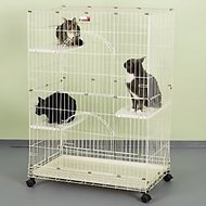 ProSelect Foldable Cat Cage, White
