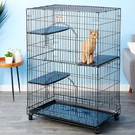 ProSelect Foldable Cat Cage, Black