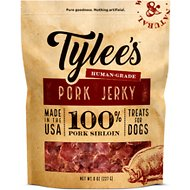 Tylee's Pork Jerky Human-Grade Dog Treats, 8-oz bag