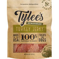 Tylee's Turkey Jerky Human-Grade Dog Treats, 8-oz bag