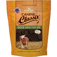 Canine Classix Duck Jerky Recipe Soft Bites Dog Treats, 6-oz bag