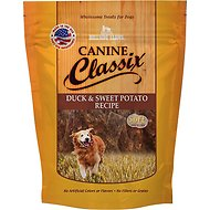 Canine Classix Duck & Sweet Potato Jerky Recipe Soft Dog Treats, 6-oz bag