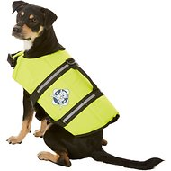 Paws Aboard Yellow Dog Life Jacket, Medium