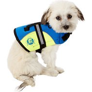 Paws Aboard Blue & Yellow Neoprene Dog Life Jacket, XX-Small